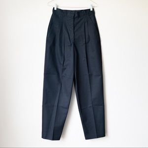 Vintage 80s Black High Waisted Trousers